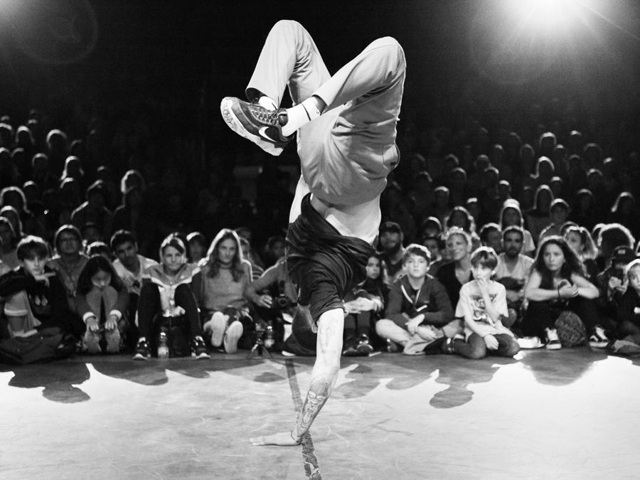 danseur lors d'une battle